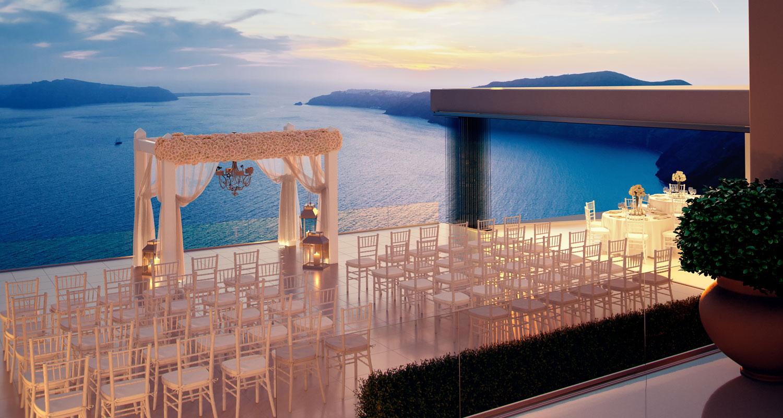 weddings in le ciel santorini wedding event venue le. Black Bedroom Furniture Sets. Home Design Ideas