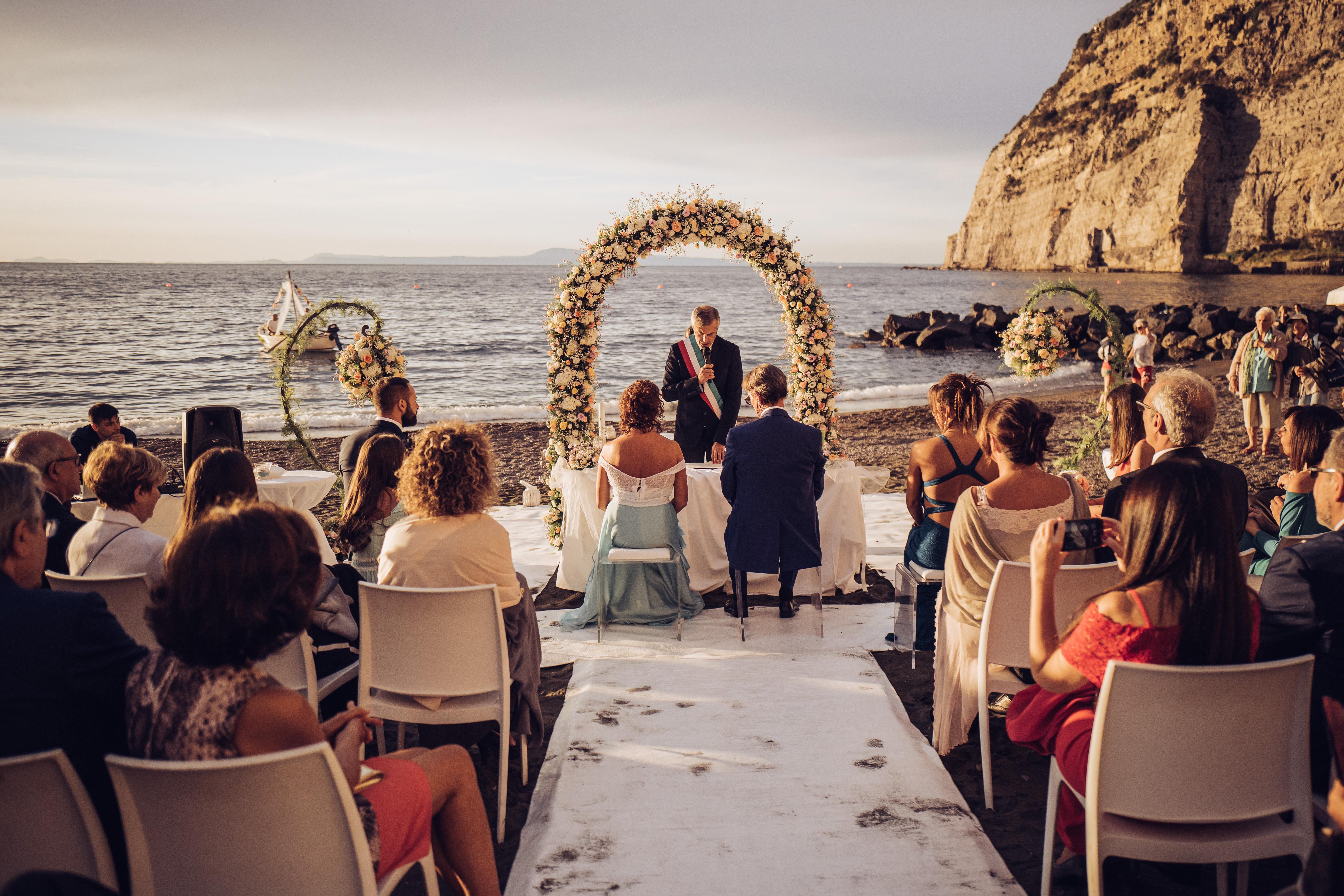 Beach Wedding And Meta Di Sorrento Reception